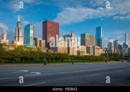 Chicago, une ville de l'Etat américain de l'Illinois, est la troisième ville la plus peuplée des États-Unis. Banque D'Images