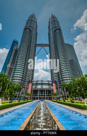 Les Tours Petronas, Kuala Lumpur, Malaisie Banque D'Images