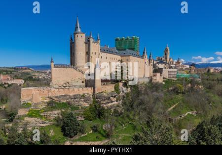 Segovia, Espagne - Site du patrimoine mondial de l'Unesco, Ségovie est une ville connue pour ses chrétienne, musulmane et juive, patrimoine et sa vieille ville médiévale Banque D'Images