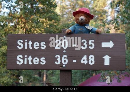 Guide de l'emplacement de camping dans Pineknot à Big Bear, en Californie Banque D'Images