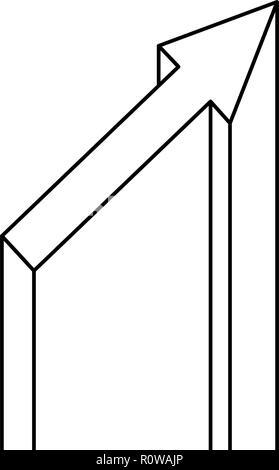 La croissance flèche sur fond blanc vector illustration Banque D'Images