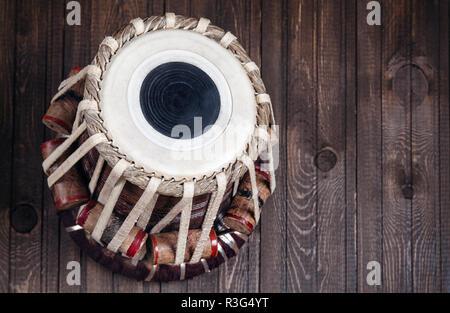 Tabla drum instrument musique classique indienne close up Banque D'Images