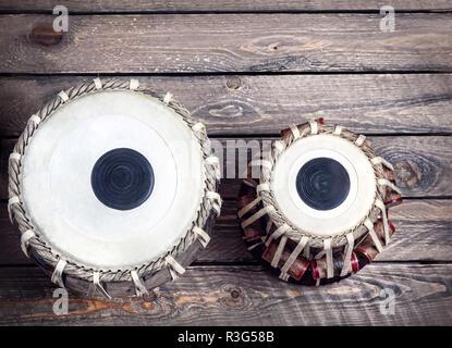 Tabla batterie instrument de musique classique indienne close up Banque D'Images