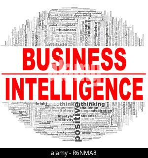 Nuage de mots de Business Intelligence Banque D'Images