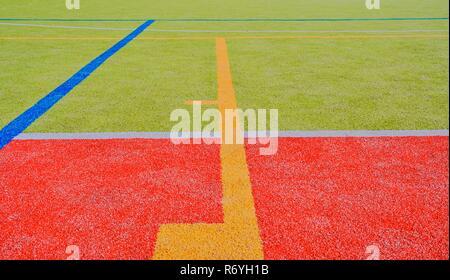 La couleur des lignes de terrain de jeu. Copier l'espace. La texture et l'arrière-plan Sport Banque D'Images