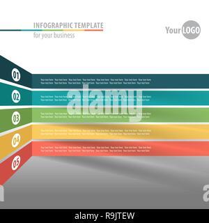 L'infographie moderne de style origami de l'élément. Modèle de flux de travail. Vector illustration Banque D'Images