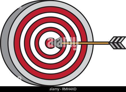 Stratégie de flèche cible Banque D'Images