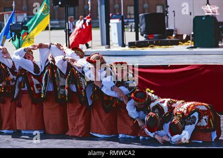 Troupe de danse ukrainienne,Saskatchewan,Canada Banque D'Images