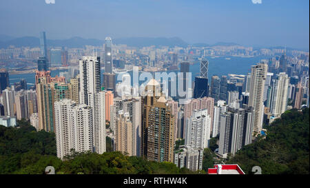Hong Kong, Skyline Banque D'Images