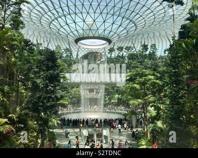 Le bijou à l'aéroport de Singapour Changi Banque D'Images