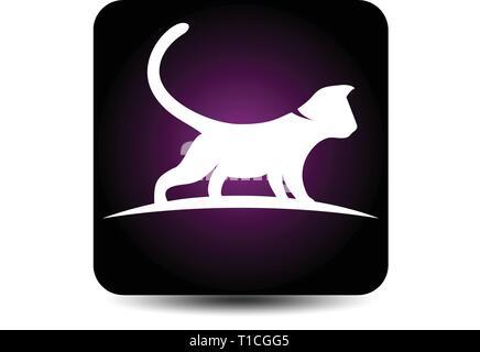Logo cat concept Banque D'Images