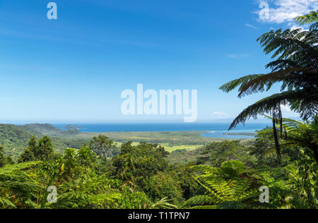 Daintree, Queensland. Vue depuis le mont Alexandra Lookout (Walu Wugirriga), la forêt tropicale de Daintree, parc national de Daintree, Far North Queensland, Australie Banque D'Images