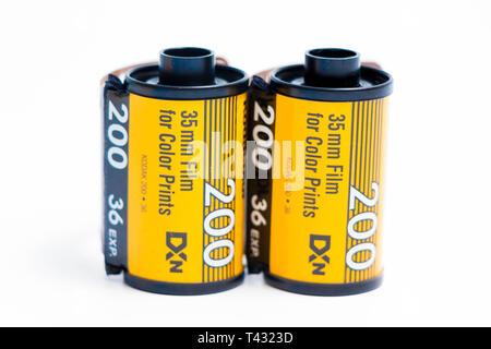 35mm film Kodak et Fujifilm fujicolor 36 l'exposition pour la photographie analogique Banque D'Images