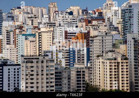 Plus grandes villes au monde. Ville de Sao Paulo, Brésil Amérique du Sud. Banque D'Images