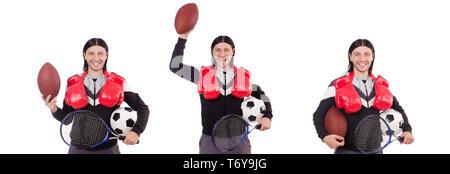 Dans l'homme de sport Banque D'Images