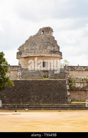 L'Observatoire, Chichen Itza ruines Maya, Mexique, également connu sous le nom d'El Caracol, les ruines d'un bâtiment sur le site de l'UNESCO, Chichen Itza, Yucatan, Mexique Banque D'Images