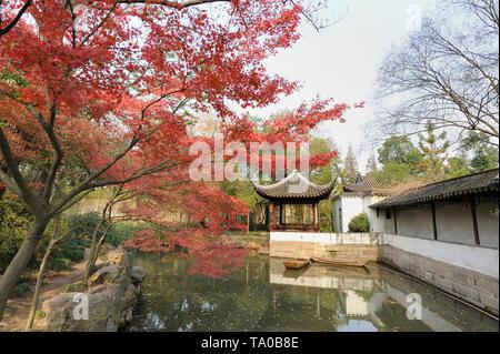 L'Humble Administrator's Garden est un célèbre jardin classique à Suzhou. C'est le plus grand jardin de Suzhou et est généralement considéré comme l'un des Banque D'Images