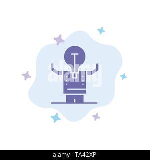 Les entreprises, l'amélioration, l'homme, personne, Potentiel icône bleue sur fond de nuage abstrait Banque D'Images