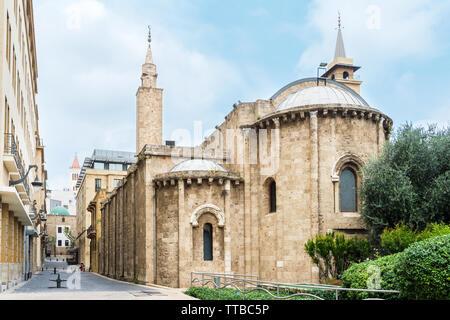 La mosquée Al Omari, Central District, Beyrouth, Liban Banque D'Images