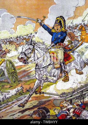 Général Kellermann à la Bataille de Quatre Bras, le 16 juin 1815., illustration, avant 1931 Banque D'Images