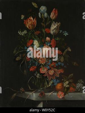 Still Life with Flowers (1673). Ottmar Elliger, (I) Banque D'Images