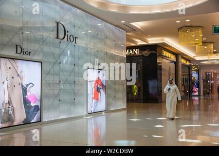Bahreïn, Manama, Moda Mall - une prime de luxe haut de gamme shopping mall situé au rez-de-chaussée de la Bahrain World Trade Centre Banque D'Images
