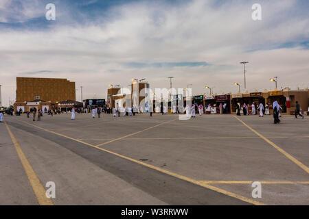 À l'intérieur du Village Festival Janadriyah, Riyad Banque D'Images