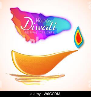 Maison de vacances Happy Diwali background pour fête des lumières de l'Inde. Banque D'Images