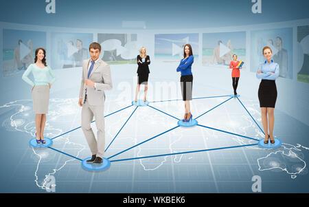 Et affaires sociales - concept réseau ou réseau Banque D'Images