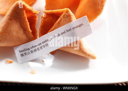 Message sur la fortune cookies Banque D'Images