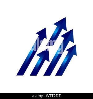 Résumé élégant de conception de logo icône flèche vecteur modèle Banque D'Images