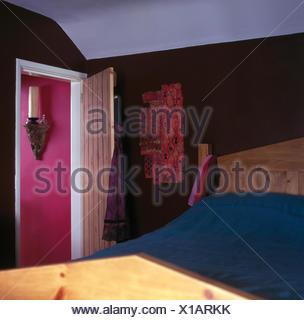 L'économie indienne en tenture murale style brun 90 chambres Banque D'Images