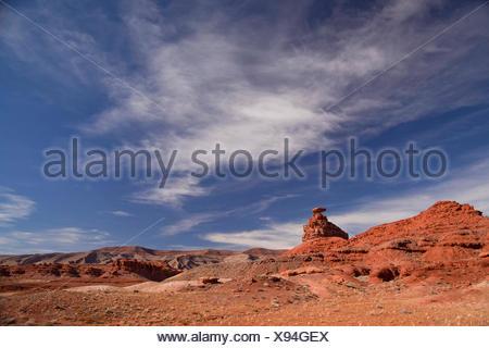 Mexican Hat Rock, près de Mexican Hat, Utah, United States Banque D'Images