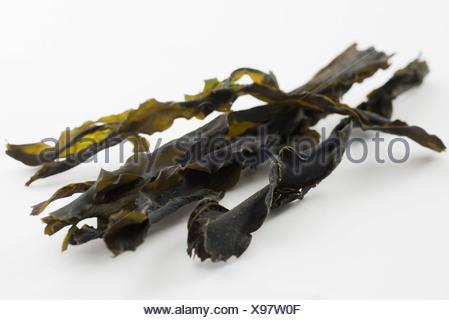 Wakame algue séchée) Banque D'Images