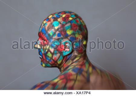 Profil de super-héros colorés Banque D'Images