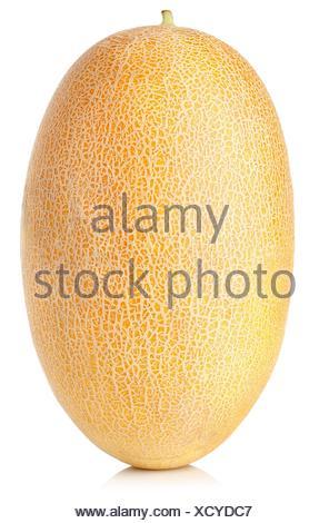 Les cantaloups mûrs isolé sur un fond blanc. Banque D'Images