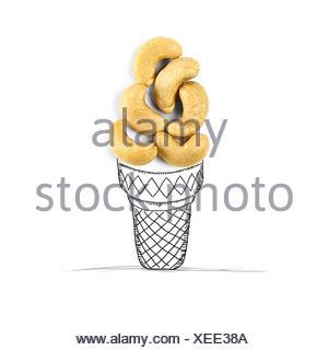 Ice-cream cone conceptuel Banque D'Images