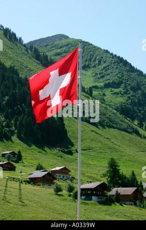 Drapeau suisse Banque D'Images
