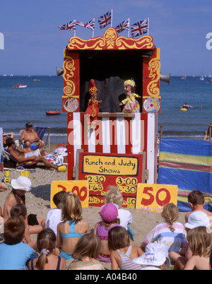 Angleterre Punch et Judy show Banque D'Images