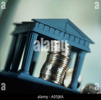 Image conceptuelle d'actifs et la banque de l'argent Banque D'Images