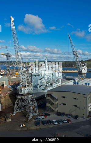 En chantier pendennis falmouth, Cornwall, Angleterre Banque D'Images