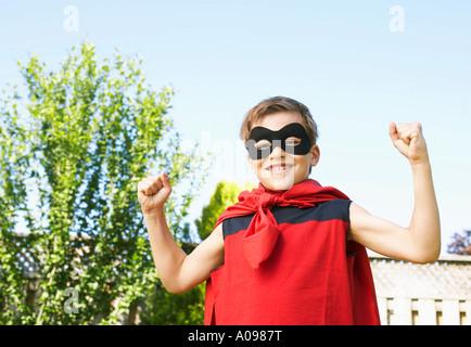 Portrait of Boy Wearing costume de Super Héros