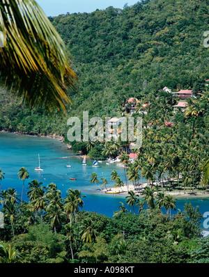 Marigot Bay, Sainte-Lucie, Caraïbes, Antilles Banque D'Images
