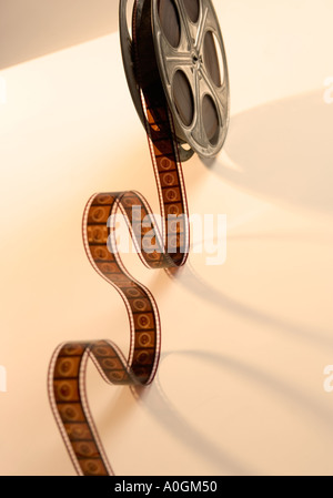Bobine de Film film déroulant d'en haut Banque D'Images