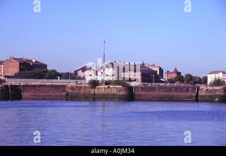 Entrée de la vieille Govan Docks sur le Clyde Glasgow Ecosse Banque D'Images