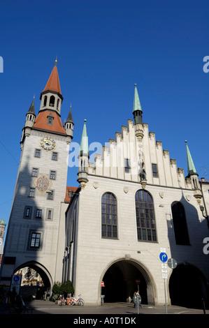 Altes Rathaus Ancien hôtel de ville de Munich Marienplatz Bavière Bayern Munchen Allemagne Europe Banque D'Images
