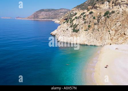 Plage de Kaputas Lycie Turquie Anatolie Asie Asie Mineure Banque D'Images