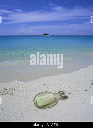 Message en bouteille Banque D'Images