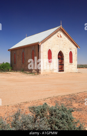 Église catholique et la Médaille Carvery, Silverton près de Broken Hill, New South Wales, Australie Banque D'Images