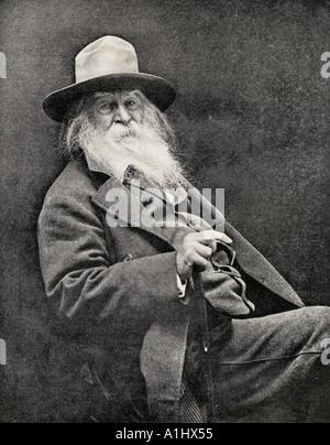 Walt Whitman, 1819 - 1892. Le poète américain